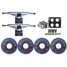 Kryptonics Route Truck Wheel Pack 59mm Blue Core 6.0 Silver