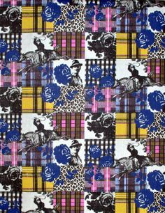 What a fantastic print! Love the contrast in colours & prints!