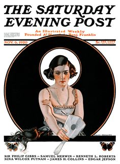 Bernice Bobs Her Hair by Coles Phillips. The Saturday Evening Post, November 6, 1920.