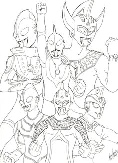 Coloring Pages For Boys Ultraman