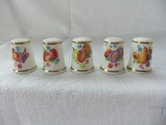 Set of Five Royal Worcester Signed Thimbles Decorated with Fruits C 1970'S | eBay  Aug 16, 2013 / GBP 67.00 / 3,444.42 RUB