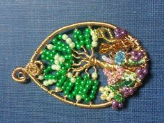 Tree of Life in a garden pendant.