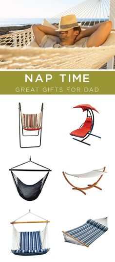 There is nothing better than being in the backyard, with a cool summer breeze and a cold drink in hand. No matter what type of hammock you are searching for, (hammocks with stands, hammock swing chairs, hammock accessories, etc.) you will be sure to find it at Bellacor. This is perfect for a Father's day gift!