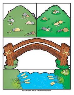 Three Billy Goats Gruff, Lesson Plans - The Mailbox Nursery Rhymes Preschool, Preschool Books, Preschool Themes, Preschool Classroom, Preschool Learning, Classroom Activities, Fairy Tales Unit, Billy Goats Gruff, Rhyming Activities