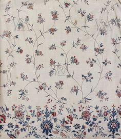 Petticoat, detail. Coromandel Coast, India, mid-18th century