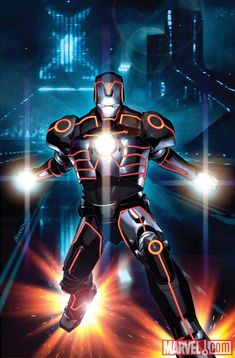 Marvel Superheroes Re-Imagined in the World of TRON! - News - GeekTyrant Iron Man