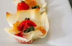 Margherita pizza cups - Amuse Your Bouche