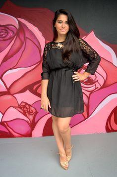 Bárbara Urias - look vestido de renda