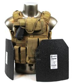 Armor® Quick Release Plate Carrier Package with Level III Body Armor and Pouches (Coyote) - (Carrier made of NON-Ballistic materials) With simila Tactical Armor, Tactical Wear, Tactical Survival, Survival Gear, Survival Stuff, Battle Belt, Tac Gear, Combat Gear, Tactical Gear
