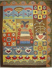 Love folk art quilts