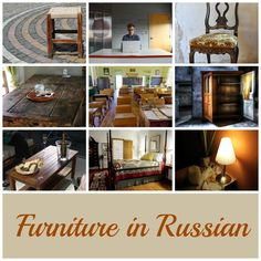 Furniture in Russian: I will have something to sit on in Russian and English