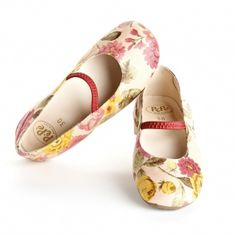 PEPE ROSE PRINT BALLET FLATS