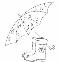 Obvodilka esernyő és csizmák Fall Arts And Crafts, Spring Crafts, Diy And Crafts, Crafts For Kids, Paper Crafts, Fall Coloring Pages, Adult Coloring Pages, Coloring Books, Quilting Templates
