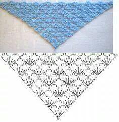 Stitch, diamond effect; Scialle