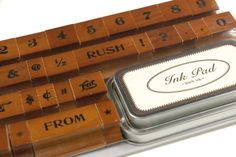 Classic Numbers & Symbols Rubber Stamp Set by Cavallini $19