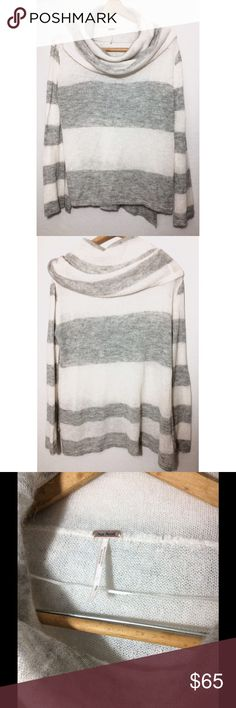 Free People Sweater Over sized Cozy Free People Cowl neck sweater. Beautiful condition. Smoke free environment. No rips- stains. Size Small Free People Tops Sweatshirts & Hoodies