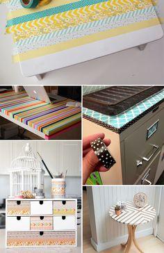 Ideias para decorar usando washi tape - Casinha Arrumada
