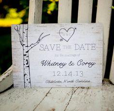 Birch Wedding Save The Date