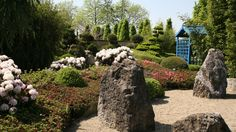 Japanse tuin met het element steen.