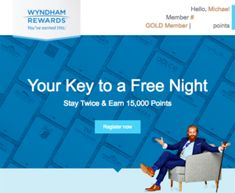 Find out how you can earn a free night at any Wyndham hotel after just two stays.