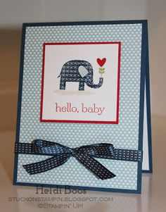 Stuck on Stampin: baby elephant
