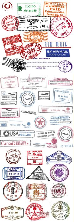 all  the stamps I want on my passport :)