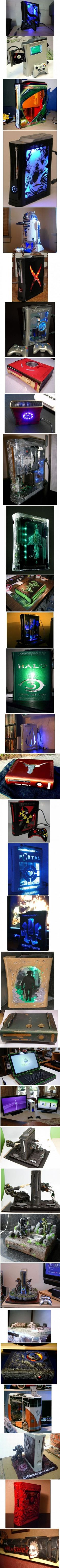 Geeks + too much time = awesome xbox mods! Xbox 360, Playstation, Geeks, Bartop Arcade, Custom Consoles, Cool Inventions, Computer Case, Best Funny Pictures, Videogames