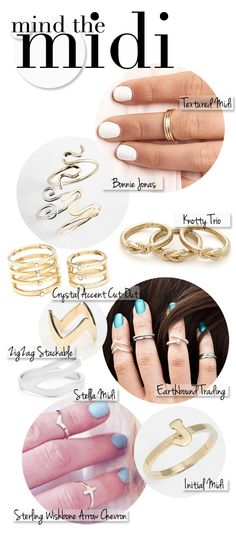 Made By Girl: Trend: Midi Rings