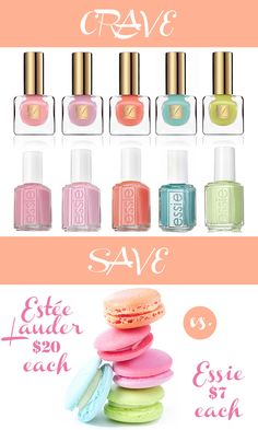 Love the new Estée Lauder spring nail polish colors but don't want to spend a lot? We found comparable colors by Essie, which are much more affordable!