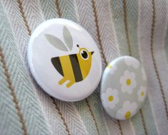 BUTTONS 2er PACK | Fleissiges Bienchen