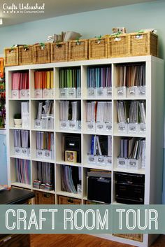 Craft Room Tour: Organizational Ideas For A Crafter's Paradise YOU HAVE TO TAKE THE TOUR OF THIS ROOM & ORGANIZATION