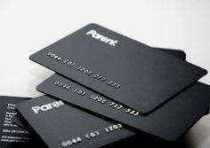 embossed on plastic sheet as credit card