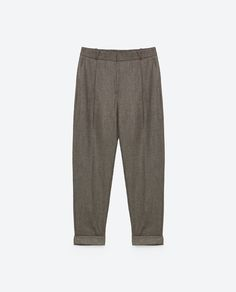 Image 6 of CLASSIC PLEATED FRONT TROUSERS from Zara