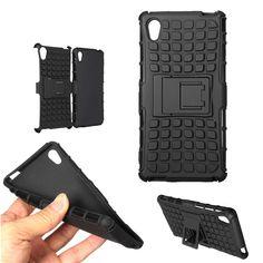 Armor Hybrid Soft TPU Stand Case Cover For Sony Xperia M4 Aqua