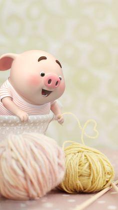 Three Little Piggies, This Little Piggy, Little Pigs, Pig Wallpaper, Cute Wallpaper Backgrounds, Pretty Wallpapers, Kawaii Pig, Cute Piglets, Pig Drawing