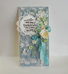 Det er din dag i dag Shabby Chic Cards, Cricket, Card Ideas, Birthday Cards, Mixed Media, Stamp, Flowers, Projects, Blog