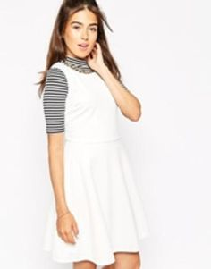 motel kale dress  white  #covetme