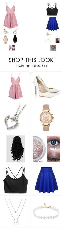 """""""Feeling girly"""" by londyn05 ❤ liked on Polyvore featuring Topshop, Jimmy Choo and Michael Kors"""