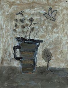 David Pearce, Small Paintings Paintings Stripy Vase Painting