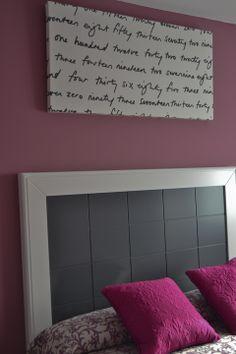 Lienzo con tela Britten Nummer IKEA. Lienzo forrado de tela