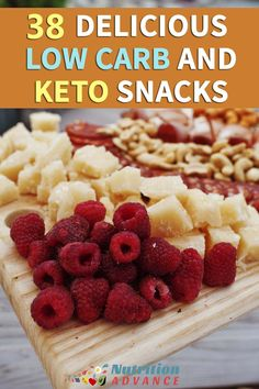 38 Delicious Low Carb and Keto Snacks - Looking for inspiration? Then here's a list of 38 delicious keto snacks, recipes, foods, and ideas. All of them are ready in less than 15 minutes! See the article at:  http://hubz.info/cooking