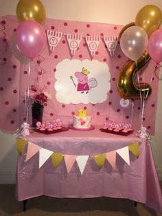 ideas party decoracion ideas birthday peppa pig for 2020 Peppa Pig Birthday Decorations, Peppa Pig Birthday Cake, Fiestas Peppa Pig, Cumple Peppa Pig, 3rd Birthday Parties, 2nd Birthday, Special Birthday, Rosalie, Pig Ideas