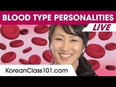 The Secret of Korean Blood Type Personalities Blood Type Personality, Korean Lessons, Fun Facts About Yourself, Korean Language Learning, Korean Words, Learn Korean, Learning Resources, The Secret, Replay
