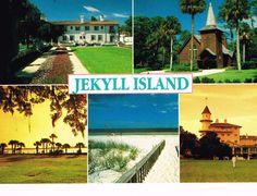 Jeckyll Island, Georgia postcard