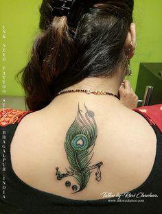 feather with flute tattoo,flute tattoo, feather tattoo,flute, feather, ink need tattoo,ravi chauhan Flower Wrist Tattoos, Girly Tattoos, Mom Tattoos, Body Art Tattoos, Peacock Feather Tattoo, Feather Tattoo Design, Feather Tattoos, Flute Tattoo, Krishna Tattoo