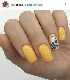 Pin by Lisa Firle on Nageldesign - Nail Art - Nagellack - Nail Polish - Nailart - Nails in 2020 Yellow Nails Design, Yellow Nail Art, Nail Art Designs, Nail Design, Jolie Nail Art, Minimalist Nails, Pretty Nail Art, Gel Manicure, Manicure Ideas