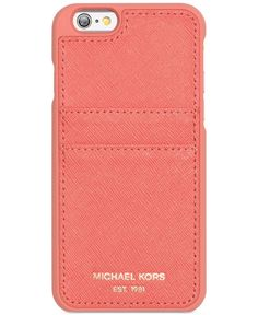 Help protect your iPhone from scuffs and scratches with this classic Michael Michael Kors case, which features card pockets so you can keep your essentials all together. | Saffiano leather/leather | I