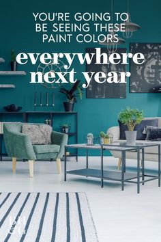 If you're looking to hit refresh with a new splash of color, take your cues from the color experts at Sherwin-Williams, who just released their 2021 paint color predictions. Here are some of the top paint colors you can expect to see in 2021. #2021painttrends #bestpaintcolorsof2021 #roomcolorideas #paintideas #colorinspiration #bhg Room Colors, House Colors, Top Paint Colors, Trending Paint Colors, Paint Color Palettes, Paint Companies, Dose Of Colors, Cool Paintings, Trendy Colors