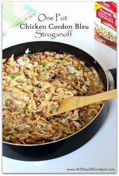 Recipe for one pot chicken bleu stroganoff
