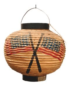 A. LINCOLN POLITICAL PAPER LANTERN  Rare 19th c. political paper lantern used for the celebration of Abraham Lincoln's inauguration in 1865.""